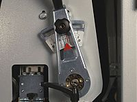 Breitbandschleifmaschine Einstellung der Schleifaggregate