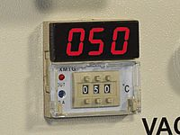Temperaturanzeige Felder Membranpresse