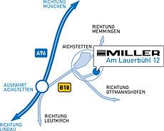 Die Firma Miller hat ihren Sitz an der A96 in Aichstetten.