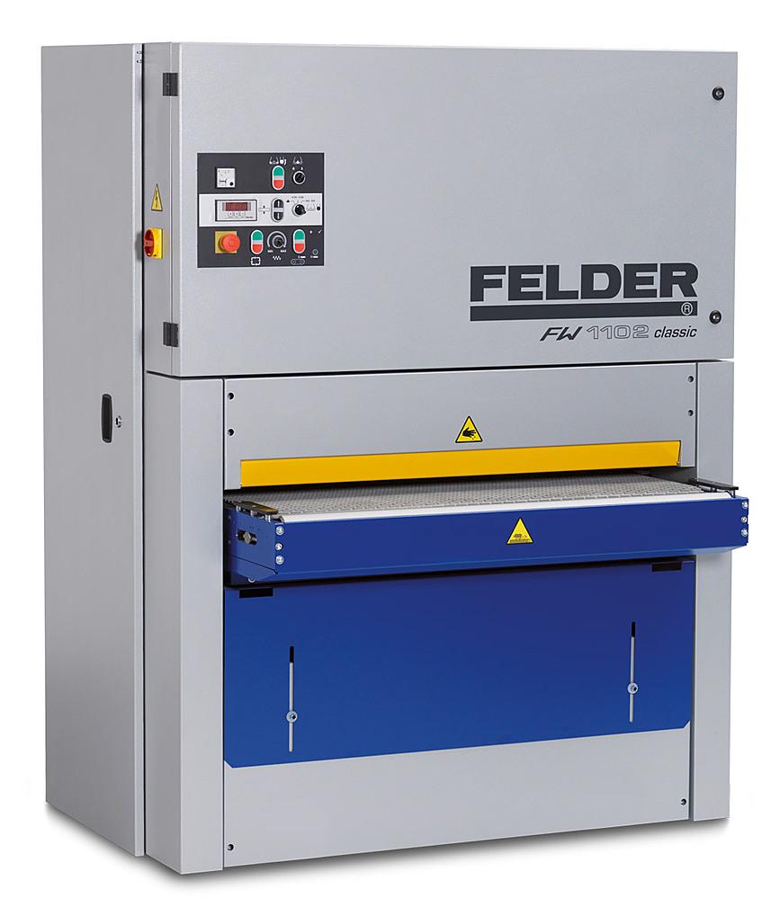 Breitbandschleifmaschine FW 1102 classic Felder www.miller maschinen.de