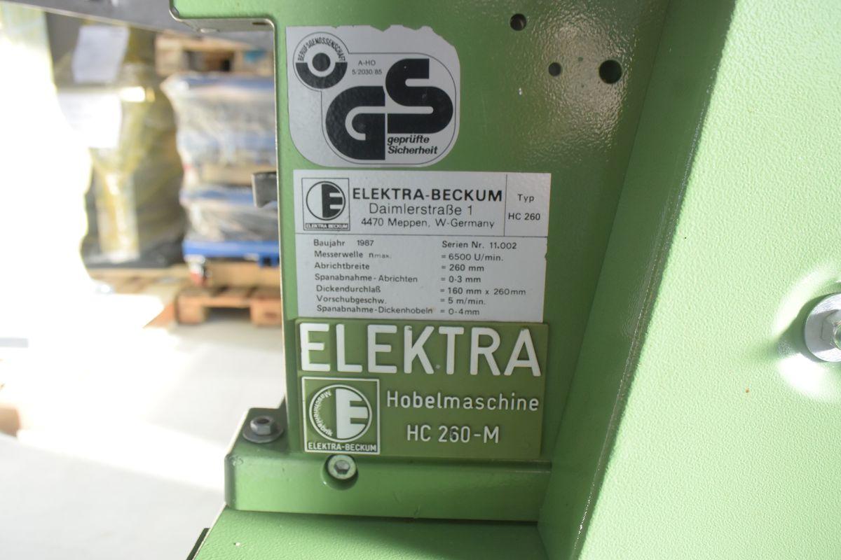 abricht dickenhobelmaschine hc 260 elektra beckum 28346 miller gmbh co kg. Black Bedroom Furniture Sets. Home Design Ideas
