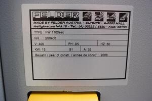 Breitbandschleifmaschine FW 1100 ESC Felder  3
