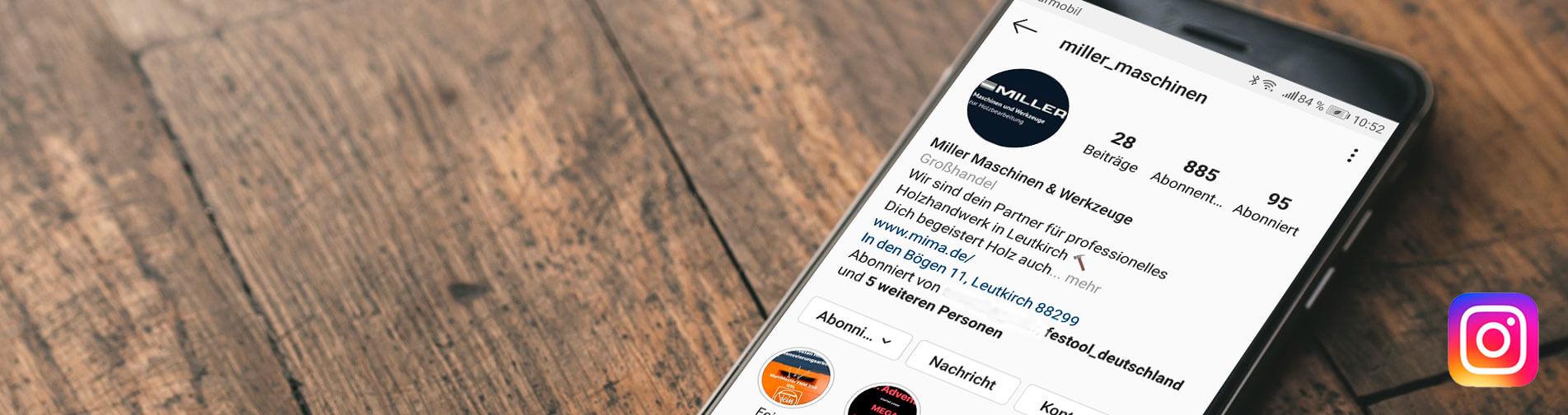 Banner Startseite miller Instagram