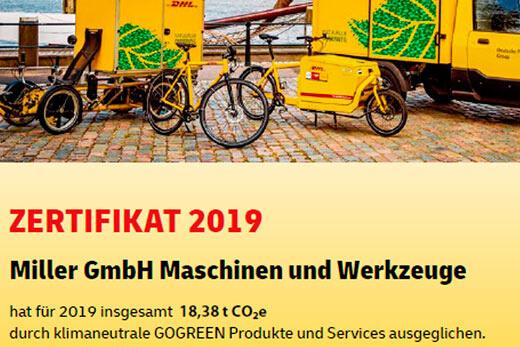 GoGreen Urkunde 2019